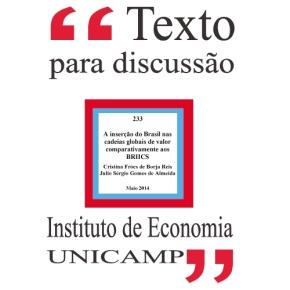 A inserção do Brasil nas cadeias globais de valor comparativamente aosBRIICS