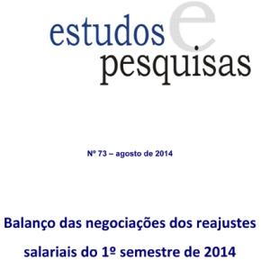Balanço das negociações dos reajustes salariais do 1º semestre de2014